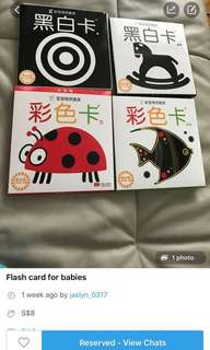 Flash Card for baby(Black white card and color card)- in stock