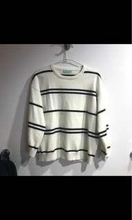 黑白條紋毛衣 薄款