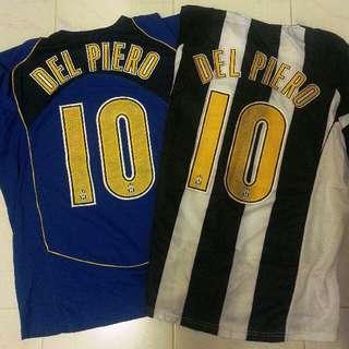 71c0afaae Del Piero 10 Juventus Home   Away Jerseys XL