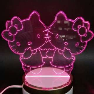 Hello Kitty Led Night Lamp!! Beautiful & Cute!!