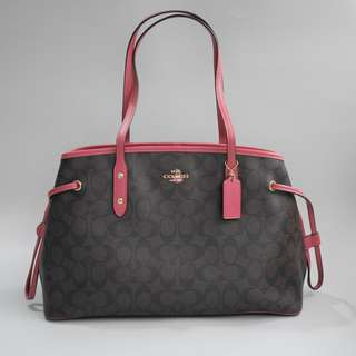 Coach Carry All Signature Brown Rouge