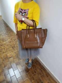 Celine brown leather handbag