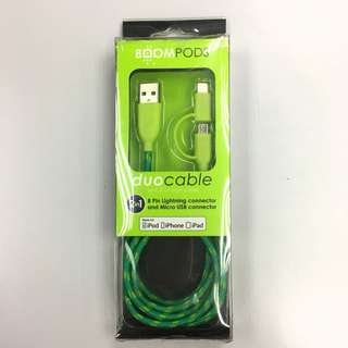 Boompods 2in1 USB Cable