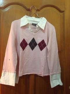 City street sweater semi crop