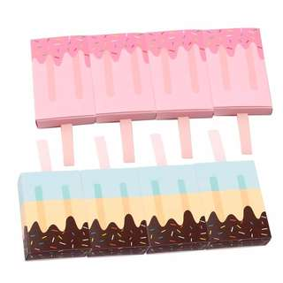 Birthday party favour popsicles box - Blue and Pink (10 pcs pack)
