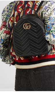 Auth GUCCI marmont Backpack