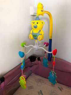 Musical cot mobile battery operated