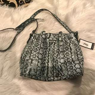 Nine West snakeskin bucket bag light green blue - new with tags