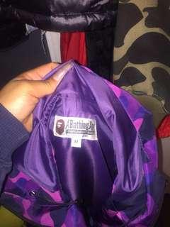 Purple camo bape jacket