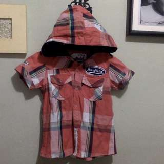 Garfield Red Plaid with Hood for 12-18 months boy