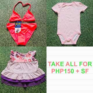 Baby Girl Clothes and Swimwear Bundle