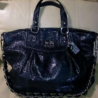 Coach 2-way Black Leather Bag