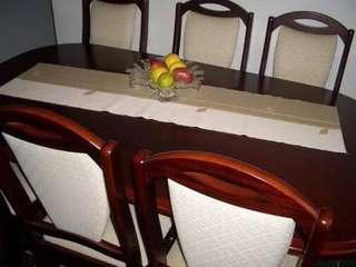 Brescia Extended Dining Table, 8 chairs