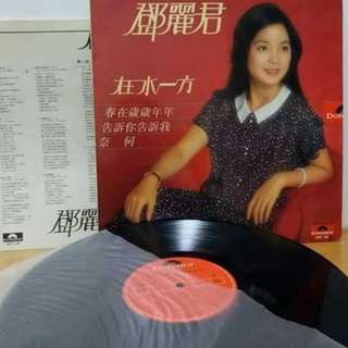 鄧麗君黑膠唱片。在水一方。微花。有歌詞
