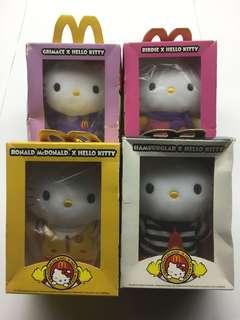 "BNIB McDonaldland x Hello Kitty 6"" Plush Set $60"
