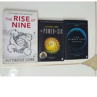 Lorien Legacies Series: I AM NUMBER FOUR , THE POWER OF SIX , RISE OF NINE by Pittacus Lore