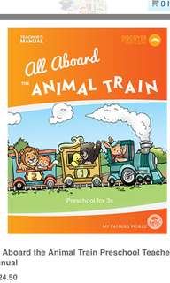 My Father's World All Aboard the Animal Train Preschool Teacher's Manual & Worksheets
