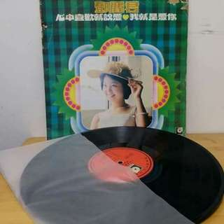 鄧麗君黑膠唱片。我就是愛你。微花。背面歌詞