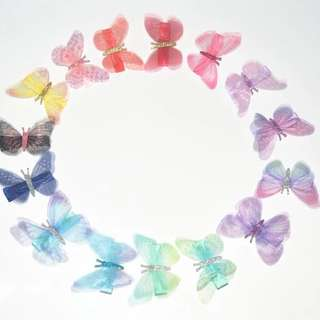 Instock - butterfly hair pins, baby infant toddler girl children cute glad 123456789 lalalala