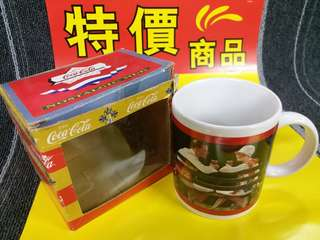 HK$28 ~ Rare Coca Cola Nostalgic Mug Coffee Cup 絕版全新可口可樂咖啡杯 水杯