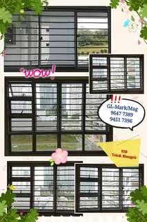 Aluminium Grilles & Window. Whatsapp 96477389