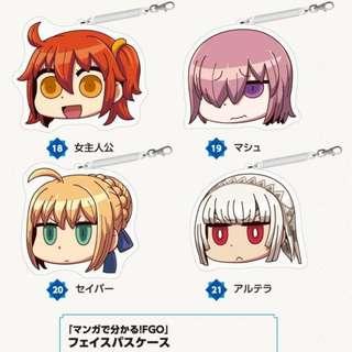AnimeJapan 2018 FGO Fate Grand Order Aniplex  大臉票夾 掛繩票夾 票券夾