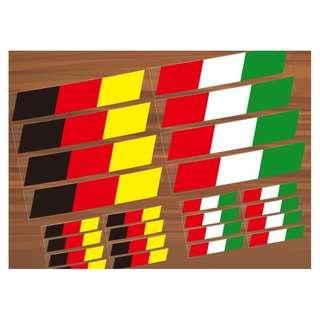 🚚 德國 義大利國旗 安全警示 反光貼 裝飾貼 車貼 貼紙 汽車 電動車 防水耐熱 套貼