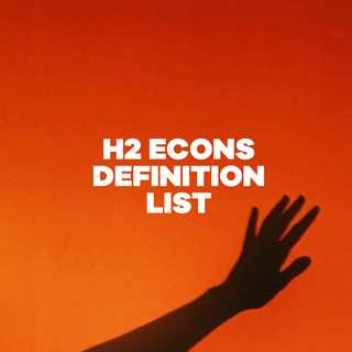 H2 Econs Definition List