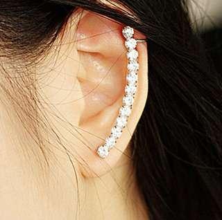 Crystal Cuff Earrings