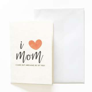 A6 Mother's Day Card - I Love Mom