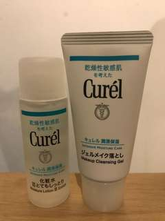 Curel Travel size makeup cleaning gel & lotion