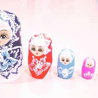 俄羅斯當地超精美  五層俄羅斯娃娃