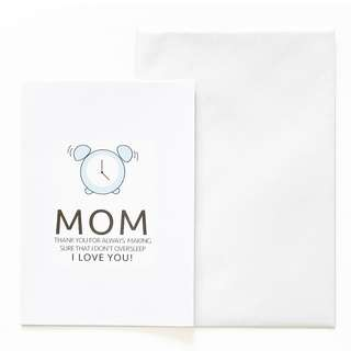 A6 Mother's Day Card - Alarm Clock