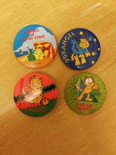 Garfield badges