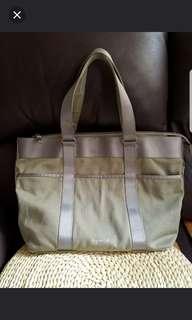 Agnes b large tote shopping bag