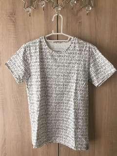 Ablib 英文字母 彈性佳 涼觸感 棉質短袖T恤