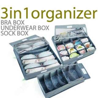 Fiber  Box  3 in 1 (tanpa tutup) bra cd kaos kaki - HPR001
