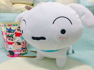 KOAOISORA 2018 蠟筆小新 クレヨンしんちゃん Crayon Shinchan - Super Big Plushy ~Shiro is Waiting~★36cm 小白 景品公仔 (全新)