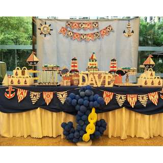 Party Themed Backdrop & Dessert Table -