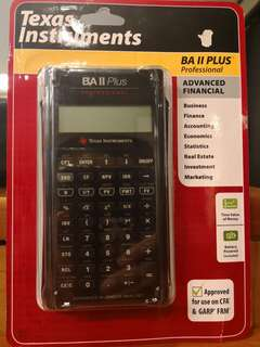 Financial Calculator - Texas Instruments BA II Plus