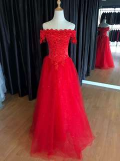 Red Gown wedding evening gown