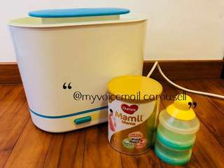 Avent steriliser w/ FREE Dumex milk power and container