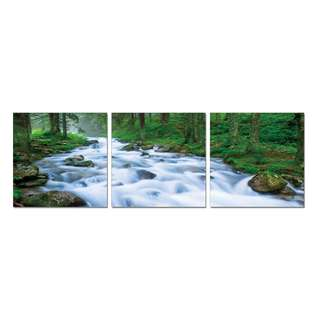 Flowing River Acrylic Print 3 Piece