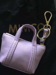 Mimco mini bag keyring