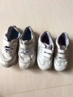 To bless : White school shoes
