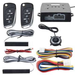 Keyless Entry (PKE) Car Alarm System + Push Start/Stop Function (2-IN-1) With Installation For HONDA