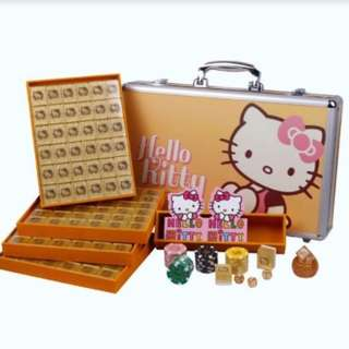 Hello Kitty Theme Gold Premium Mahjong Set Brand New