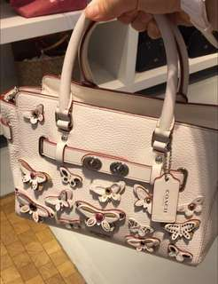 Coach Bag with Butterflies Embellishments