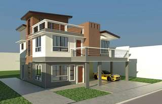 Corner 3 storey  House and lot for sale complete with  fence and gate