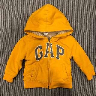 BabyGap 內厚刷毛長袖連帽棉質外套 - 2Y